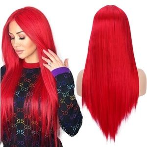 """Accessories - ✨Randy 22"""" RED MIDDLE PART Cos Play WIG *NWT* ✨"""